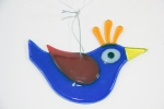 Glass Bird Blue for Hanging