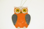 Glass Owl Red for Hanging
