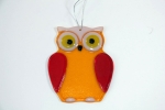 Glass Owl Orange for Hanging