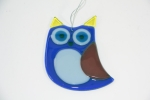 Glass Owl Blue for Hanging